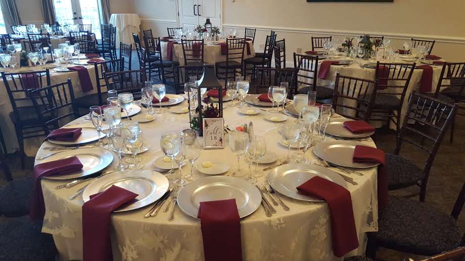 A Table Setting At Wedding